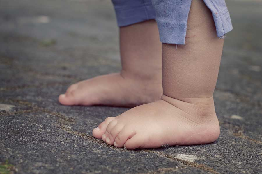 Bare feet of a baby