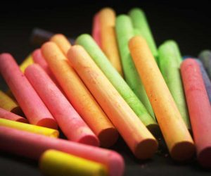 A set of colorful chalk