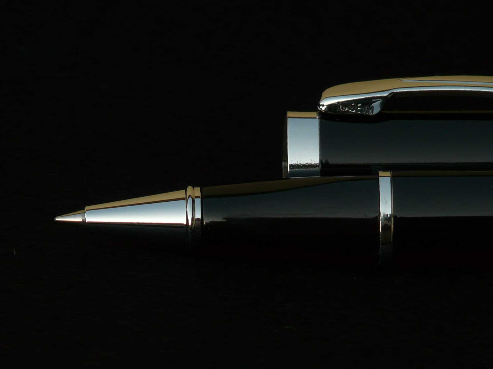 A black ballpoint pen