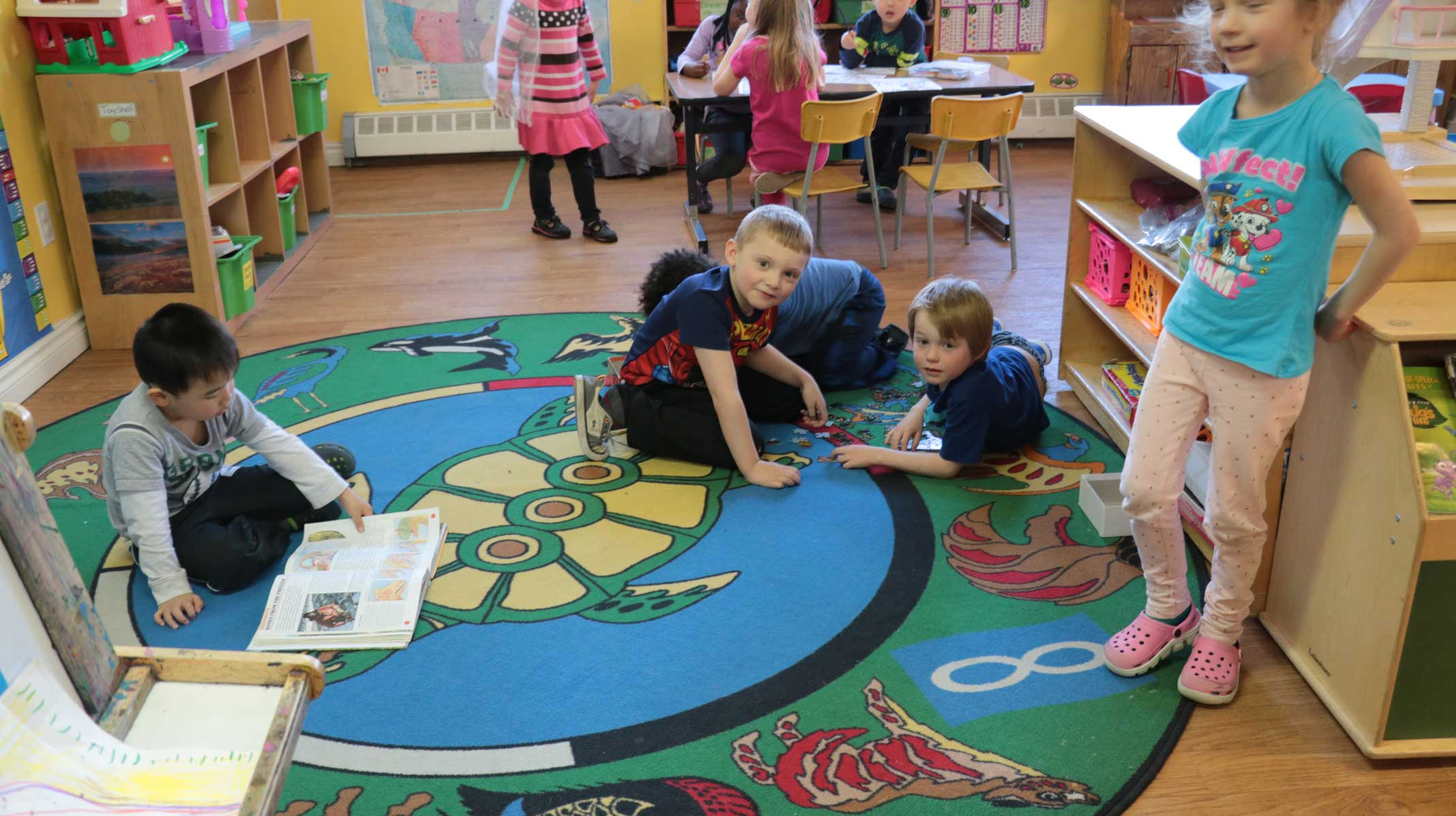 Children playing at the Little Sundance Daycare